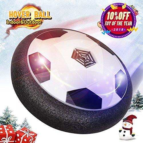 Hover Ball LED Fußball Spielzeug mit Musik Air Power Soccer Disk mit Licht für Indoor Innenräumen Spielen ohne Möbeln zu beschädigen, Guter Geschenk für die Weihnachten, Geburtstag und Kinder Haus Spielzeug Für Jungen