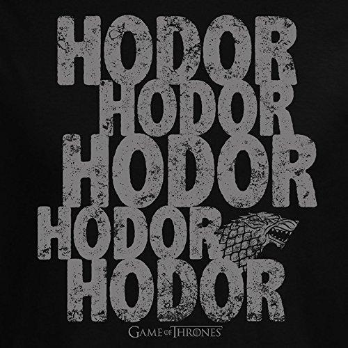 Game of Thrones Hodor T-Shirt von Elbenwald Baumwolle schwarz Schwarz