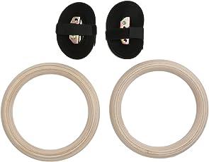 Generic Wooden Gymnastic Rings Adjustable Pair Gym Power Strength Training