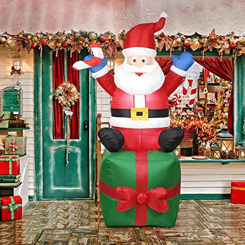 Matefield Hinchable Navidad Papá Noel Hinchable Santa Claus Inflable de Papá Noel...