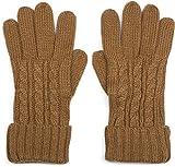 styleBREAKER caldi guanti con motivo intrecciato e doppio orlo, guanti invernali in maglia, donna 09010009, colore:Cognac