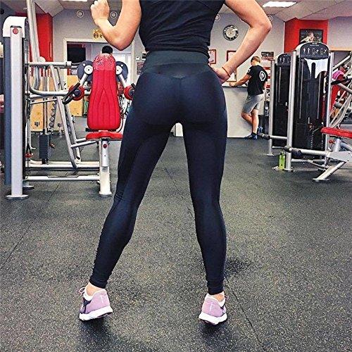 384704f66029 Xuanytp Pantaloni da Yoga Leggings per Donna Fitness Patchwork Vita Alta  Allenamento Sport Leggings per Donna