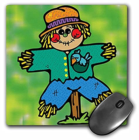 Blonde Designs Cute Cuddly Country Designs - Cute Country Scarecrow And Blue Bird - MousePad (mp_202587_1)