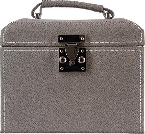 2-en-1-Caja-de-joyas-y-tocador-de-aspecto-GAMUZA-Estilo-vintage-Color-MARROn