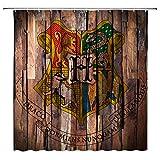 lileihao Harry Potter Serie Duschvorhang Polyester-Wasserdicht-Schimmel Home Badezimmer Dekoration Supplies Zubehör Badewanne Gardinen aufhängen 175,3x 177,8cm inkl. Haken Englisch 69x70 Inch Multi 4073