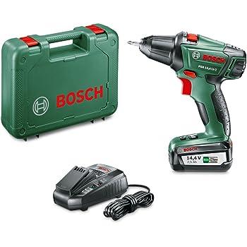 Bosch Perceuse-visseuse Expert sans fil PSR 14,4 Li-2 coffret 1 batterie 14,4V 2,5 Ah, technologie Syneon 060397340N