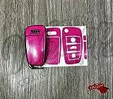 SuperWrappz-co-uk Paillettes Rose Brillant Key Wrap Coque télécommande Audi A1A3A4A5A6A8TT Q3Q5Q7