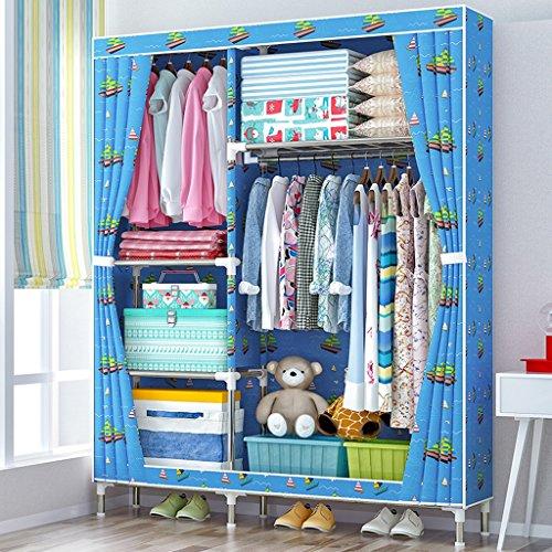 MMM& Einfaches Tuch-Garderoben-Stahlrohr-mutiges Speicher-Versammlung Oxford-Stoff-großes modernes Kabinett ( Farbe : #3 , größe : 106*46*168cm ) (Oxford Kabinett)
