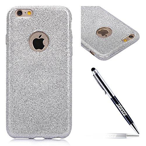 Custodia iPhone 6 Plus, iPhone 6S Plus Cover, iPhone 6 Plus/6S Plus Custodia Silicone, JAWSEU Moda Stile Lusso Brillante Macchia Sparkle Glitter Bling ...