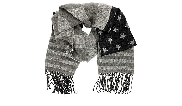 Sciarpa Donna o Uomo Invernale USA SHIPITNOW Sciarpa con Bandiera Americana Finitura di Frange Sciarpa di Cotone Spessa e Morbida