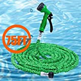 iLifeSmart 75ft Expandable Garden Hose Expanding Hose Garden Hosepipe SprayGun with 7 spray mode (Green)