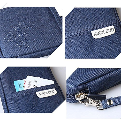 wasserdichte Passport Wallet Travel Document-Organisator-Halter Rosa