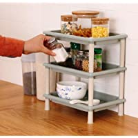 ANVEL Multi-Use Plastic 3-Layer Storage Organizer Rack for Kitchen, Bathroom, Living Room, Bedroom (Standard)