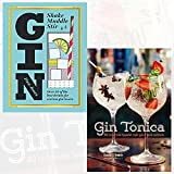 Gin shake muddle stir and Gin Tonica 2 Books Collection Set - Over 60 of the Best Gin Drinks for Serious Spirit Lovers, 40 recipes for Spanish-style gin and tonic cocktails