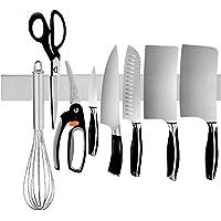 LuoCoCo Barre à Couteaux Aimantée de 40cm, Porte-Couteaux Nordique Magnétique en Acier Inoxydable Mur, Support…