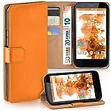 Motorola Moto G Hülle Orange mit Karten-Fach [OneFlow