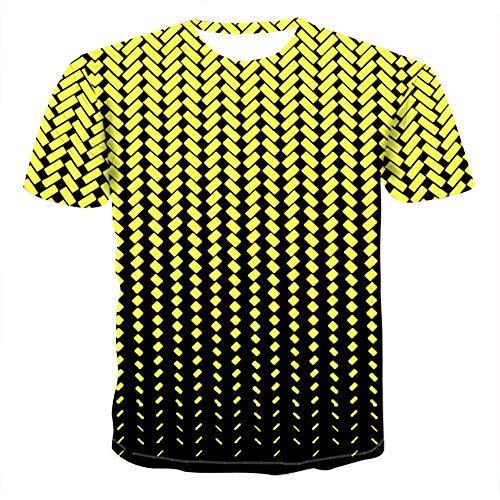 3DT Shirt Red Square Herren Sommer Lässig Atmungsaktiv Kurzarm 13-S