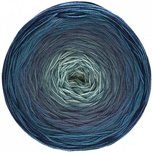 Lace Shades (Lana Grossa Shades of Cotton 106 - Marine/Dunkelblau/Taubenblau/Blaugrau/Weißgrau)