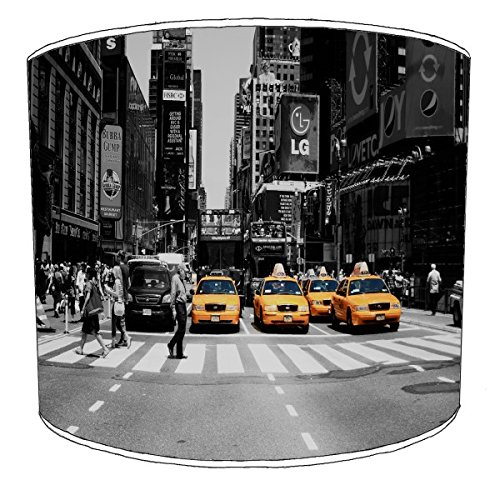 30,5cm Tabelle new york black and white street 4 cabs Lampenschirmes