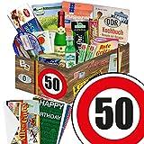 """50 Geburtstag Geschenk DDR - SPEZIALIT�TEN Box mit DDR Waren + Geschenkverpackung """"Verkehrsschild 50"""" mit Ostmotiven + gratis DDR Kochbuch + gratis Geschenkkarten ? Rotk�ppchen Sekt (0,2l), Halberst�dter Schmalzfleisch, rote Gr�tze Himbeer uvm. +++ Ostprodukt DDR Box als Geschenkkorb mit DDR Spezialit�ten ++ Geschenk 50. Geburtstagsgeschenke Geschenkkorb f�r m�nner geburtstagsgeschenk f�r Mutter geschenkk�rbe Geburtstag 50 Mann Ostgeschenke f�r M�nner Geschenk zum 50. Geburtstag M�nner Bild"""