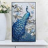 5D DIY Diamant Pfau, von Nummer Kits Weihnachtsbasteleien und Näharbeiten Kreuzstich, Gemälde für Home Wand-Dekoration (40,6x 61cm) 24 x 35 inch pfau
