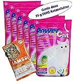 6 x 5 l = 30 L Power Cat Magic Silikat Katzenstreu Powercat Gratis dazu 75 g IAMS Adult 1-6 Katzenfutter ...
