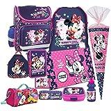 Minnie Maus 11 tlg. SCHULRANZEN RANZEN Federmappe Tasche Tornister Schultüte SET mit Sticker von kids4shop