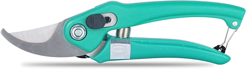Pepper Agro Garden Scissors Pruning Bypass Secateurs Flower Cutter Branch Trimmer Carbon Steel Blade with Lock Set of 1