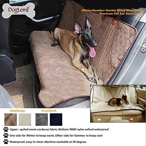 Hundeschutzdecke Auto Wasserdicht Hunde Autoschutzdecke Doppelseitige Verwendung,Brown