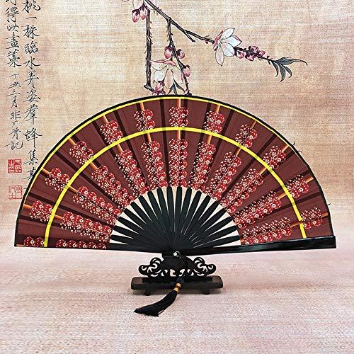 XIAOHAIZI Handfächer,Sommer Bambus Fan Abacus Diagramm Braun Retro Chinesischen Stil Männer Madame Geschenk Faltfächer Für Zu Hause - Kostüm Diagramm