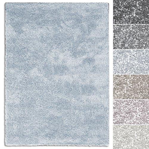 casa pura Teppich Sundae | Viele Größen | Pflegeleicht Kuschlig Weich | Flurteppich, Wohnzimmerteppich, Küchenteppich, Schlafzimmerteppich (Hellblau - 66x130 cm)