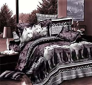 Chaque invité home incroyable! 100%  coton 4 full 3d-Parure de lit-Drap de Lit avec housse de couette Drap-housse d'oreiller :  elle est d'une couleur Par lot/pc