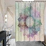 Frische Blumen-Mandala Duschvorhang Bad Hotel Duschvorhang Schimmel wasserdichte Polyester Vorhänge nicht verblassen , mysc109-1 , 150*180cm