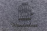 Ringelsuse Reise Tuch Wanderlust Auch als Decke Schwarz Grau Druck Vogelkäfig 120 x 84 cm Baumwolle Fairtrade