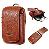 #8: FLOVEME Premium Vintage Magnetic Wallet PU Leather Credit ID Cards Waist Bag Pack Flip Pouch Zipper Carry Case iPhone 5 5s 5c SE 6 6s 7 Plus, Samsung Galaxy S3 S4 S5 S6 Edge, S7 - Brown