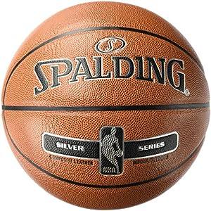 Spalding NBA Silver Basketball Ball, orange, 7