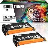 Cool Toner 2-Pack Schwarz Toner Kompatibel für 593-10170 für Dell 3115cn 3110cn Toner Schwarz 3110 Dell 3115 Toner, 8000 Seiten
