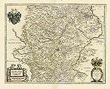 Historische Karte: Thüringen - Thüringen Landgrafius. 1642 (Plano) - Johann Blaeu