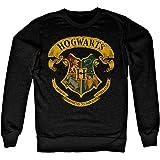 Harry Potter Officially Licensed Inked Hogwarts Crest Sweatshirt (Black)