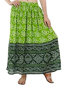 Faldas largas de la Impresión Floral de la Falda Maxi de la Longitud Total de la Cintura de Las Mujeres