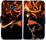 Custom Leder Flip Schutzhülle für Samsung Galaxy S6Herr der Ringe BALROG CS Gandalf Geldbörse Handyhülle qbdf9160478