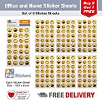 Fun Stickers Office & Home Kids Party Bag Fillers Emoji Expressions 6 Sheets CDU D 18-60