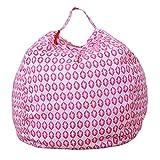 Stofftier Kuscheltiere Aufbewahrung Aufbewahrungstasche Sitzsack Kinder Soft Pouch Stoff Stuhl (One Size, H)