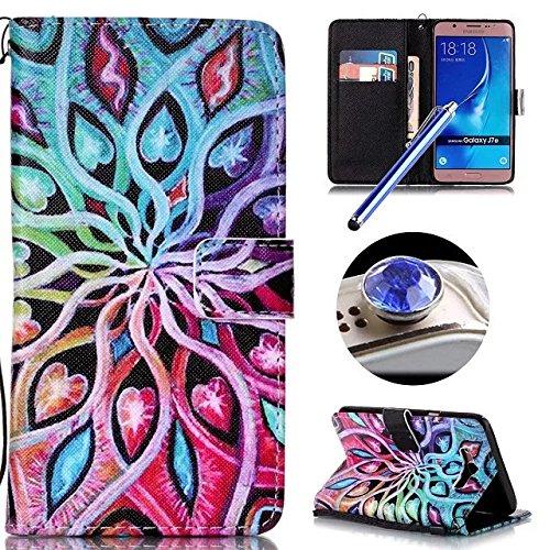 galaxy-j7-2016-leather-casesamsung-galaxy-j7-2016-book-caseetsue-pretty-mandala-flower-design-pu-lea