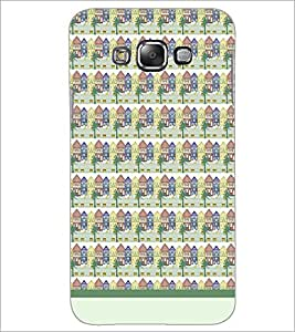 PrintDhaba House Pattern D-1480 Back Case Cover for SAMSUNG GALAXY E7 (Multi-Coloured)