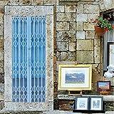 Tür Aufkleber 3D Imitiert Falttür Design Tür Aufkleber Wandbild Wohnkultur PVC Kreative Kunst Poster Abnehmbare Tür Aufkleber Decole 77X200 cm