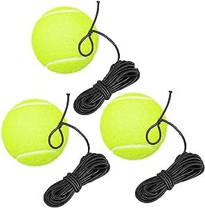 sylbx Palla da Tennis con Corda 3PCS Allenatore di Tennis Palline