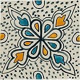 Marokkanische Fliesen Wandfliesen 10cm Groß handbemalt | Orientalische Handgemachte Fliese aus Keramik | Dekofliesen für die Wand im Badezimmer Küche oder als Untersetzer für Gläser - 4
