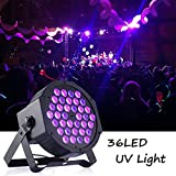 Gledto 36 W 36 LEDs DJ Disco LED UV Lámpara de Escena Morado Proyector Bar Wall Washer Light para Escena Estadio KTV Party Pub Club Disco Show Concert Festival Manifestación