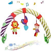 Sunny Stroll - Arco giocattolo con sonaglio e dispositivo BB, 0 mesi, da viaggio, con simpatici personaggi da appendere…